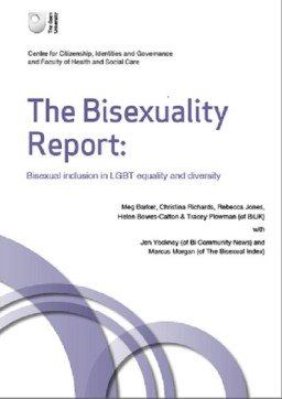 The Bisexuality Report, by Meg Barker and Rebecca Jones