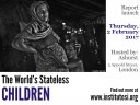 World's Stateless Report Launch flyer image