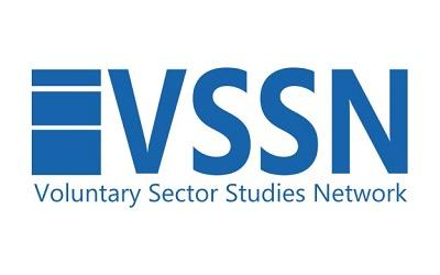 Image shows the blue and white Voluntary Sector and Volunteering Research logo