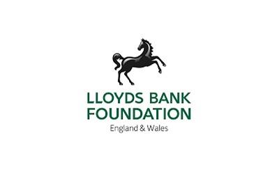 Lloyds foundation logo with their iconic black horse and green text