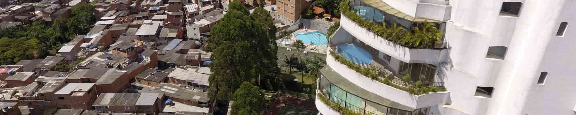 Favela in South America