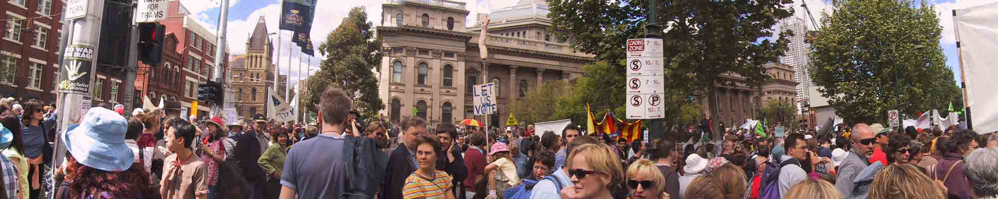 An anti war demonstration photo