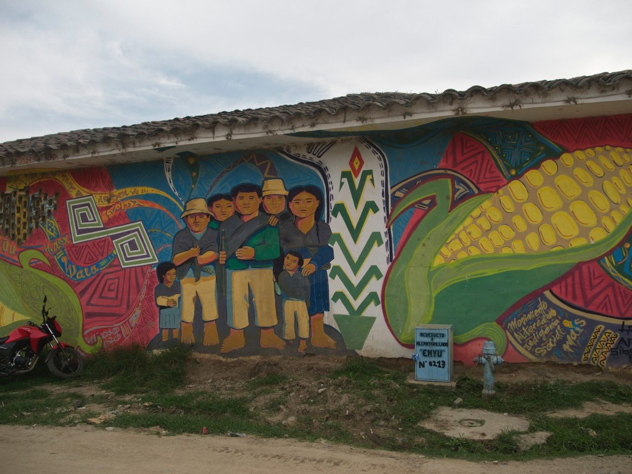 Murals in the town of Toribio, Colombia image