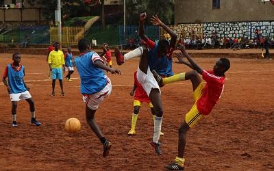 Boys playing football - taken by Jannik Skorna
