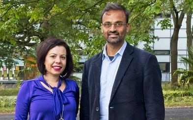 Photo of Alessandra Marino and Shonil Bhagwat