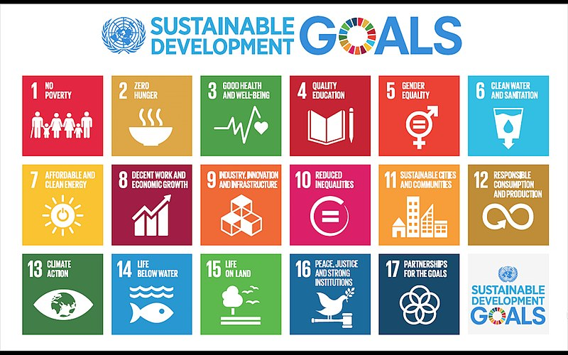 pictorial image of the 17 sustainable development goals