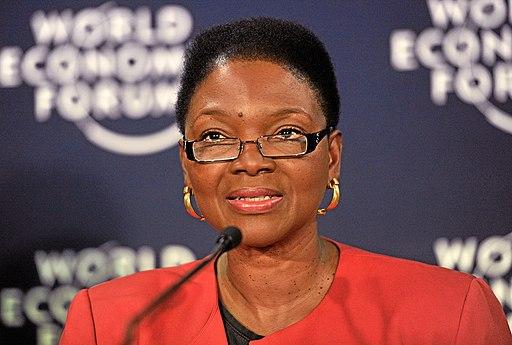 Photo of Baroness Amos speaking at World Economic Forum