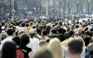 Photo of a busy, diverse UK street
