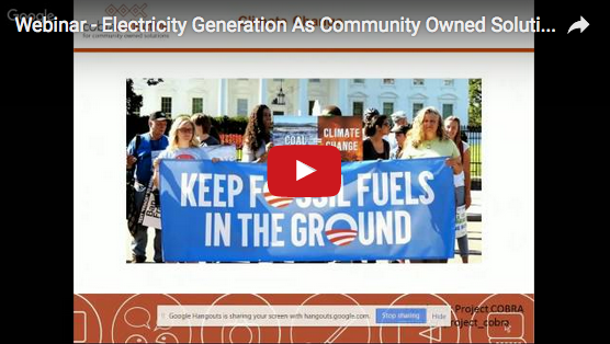 Community-owned solutions to generation of electricty: webinar image