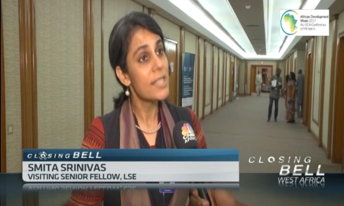 Smita Srinivas interviewd by CNBC Africa