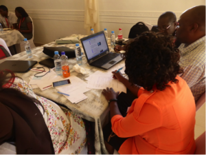 Image of Training MOOC Facilitators in Kabwe – Sept 2017. Over 400 teacher educators registered for the MOOC and 50% of them completed. (Making Teacher Education Relevant for 21st Century Africa on FutureLearn.