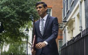 Chancellor Rishi Sunak leaves 10 Downing Street to go to the House of Commons to make the Summer Statement. Picture by Pippa Fowles / No 10 Downing Street.