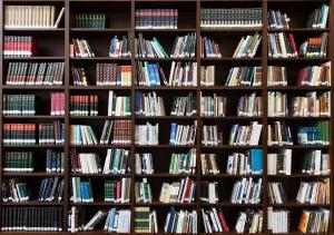 photo of books on book shelf