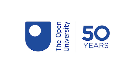 The Open University at 50 logo