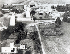 Aerial photograph of Walton Hall taken in 1969