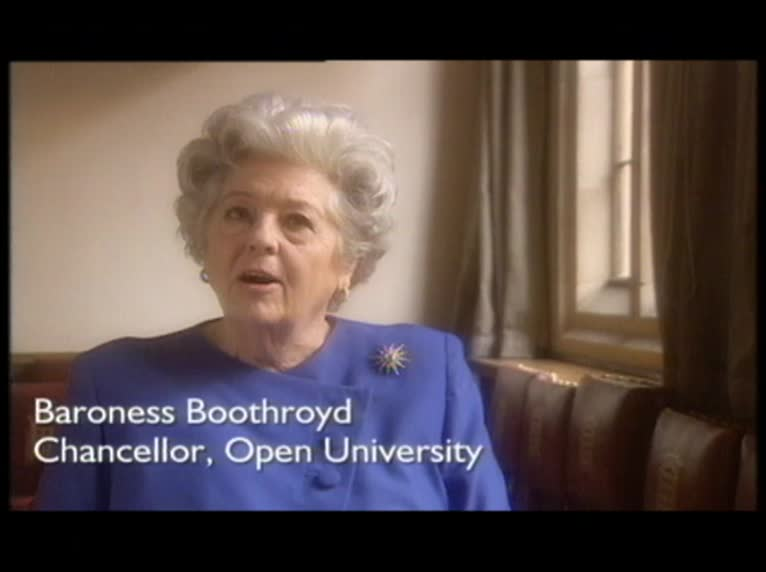 video preview image for Chancellor of The Open University