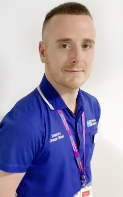 A picture of David in his nursing uniform.