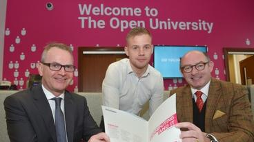 Darren Lemon, General Manager eir Business NI. John D'Arcy National Director The Open University