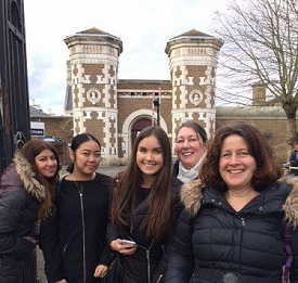 OU students visiting Wormwood Scrubs