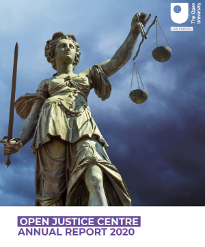 Open Justice Annual Report 2020 cover
