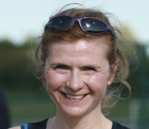 Picture of Lorna smiling after a cross country race