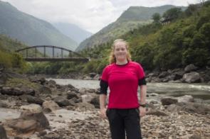 Stacy on fieldwork in E Bhutan, May 2017