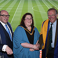 Orlagh Costello after the OU degree ceremony in Croke Park