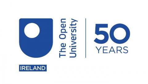 The Open University in Ireland 50th anniversary logo