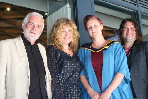 Ken Bates, Pru Bates, Maggie Bates and Paddy Bates