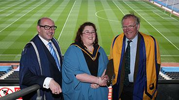 John D'Arcy, Orlagh Costello and Lord Christopher Haskins
