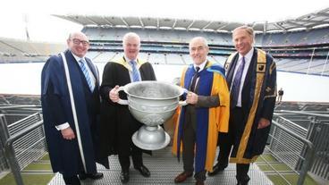 John D'Arcy, Aogán Ó Fearghail, Mickey Harte and Richard Gillingwater
