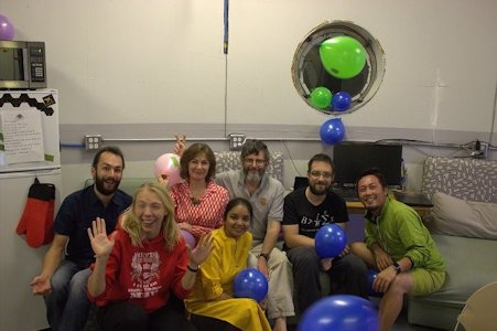 A birthday celebration at MDRS.