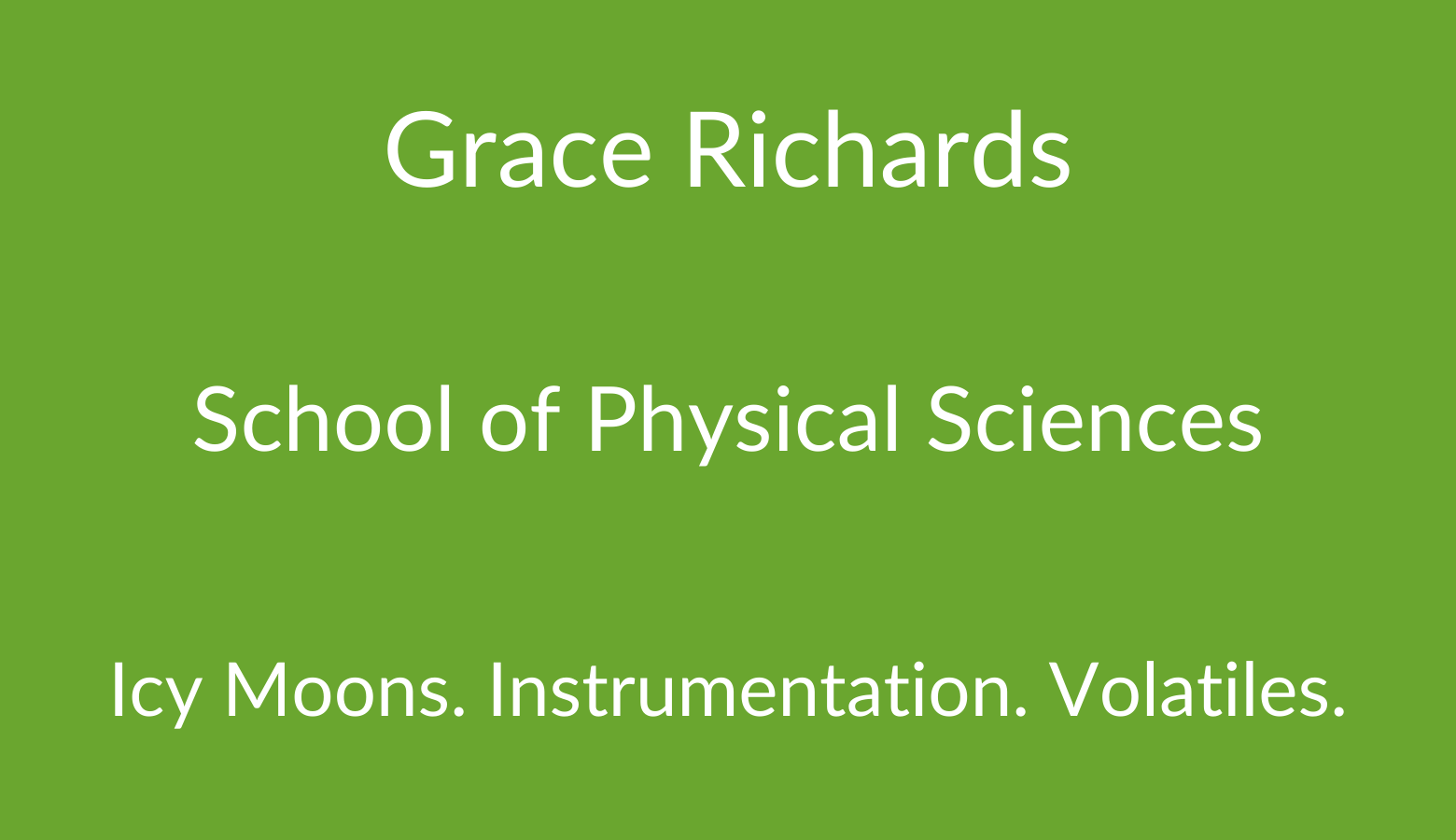 AstrobiologyOU Grace Richards