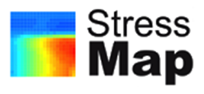 Stress map logo
