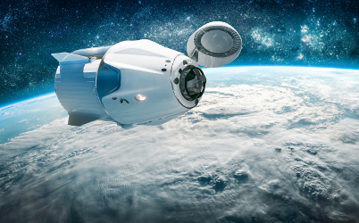 Space ship in Space