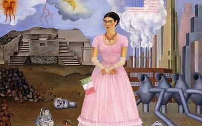 Frida Kahlo, Self Portrait along the Border Line between Mexico and the USA, 1932