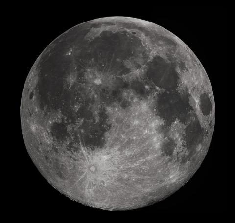 Full moon photographed from Earth