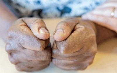 An image of a Yarl's Wood detainees hands - taken by Frazer Waller of Yarl's Wood Befrienders