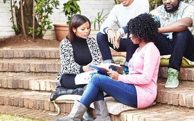 Female students learning in South Africa