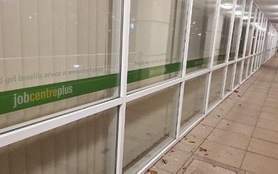 Photo outside a job centre
