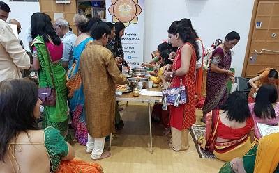 Photo of celebrations at the Milton Keynes Hindu Association