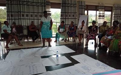 NAWOU gender sensitization training sessions, with a particular focus on gender-based violence.