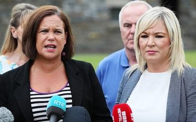 Sinn Fein leaders Mary Lou McDonald and Michelle O'Neill