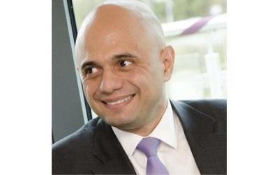 Photo of Sajid Javid smiling (his personal Twitter photo)