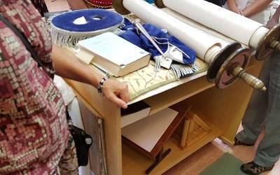 Torah scrolls on show