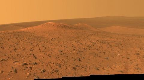 The Wdowiak Ridge on Mars as seen by NASA's Mars Exploration Rover Opportunity. NASA/JPL-Caltech/Cornell Univ./Arizona State Univ.