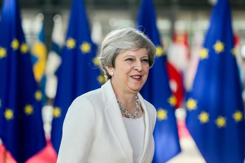 Theresa May allow EU citizens to stay – or she may not. EPA/Stephanie LeCocq