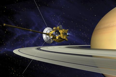 ThinkstockPhotos-896151015 - This is an artists concept of Cassini during the Saturn Orbit Insertion (SOI) maneuver