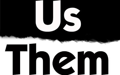 Logo saying 'us' and 'them'