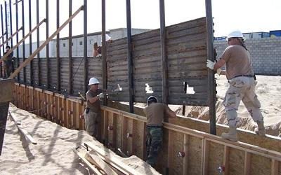 Prototype construction of the wall